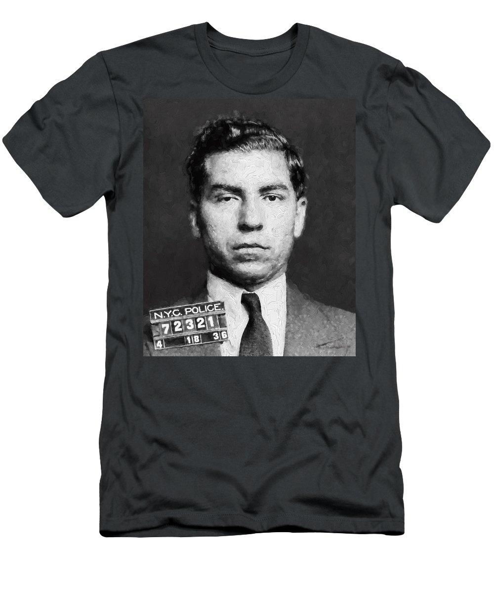 Lucky Luciano Italian gangster t shirt