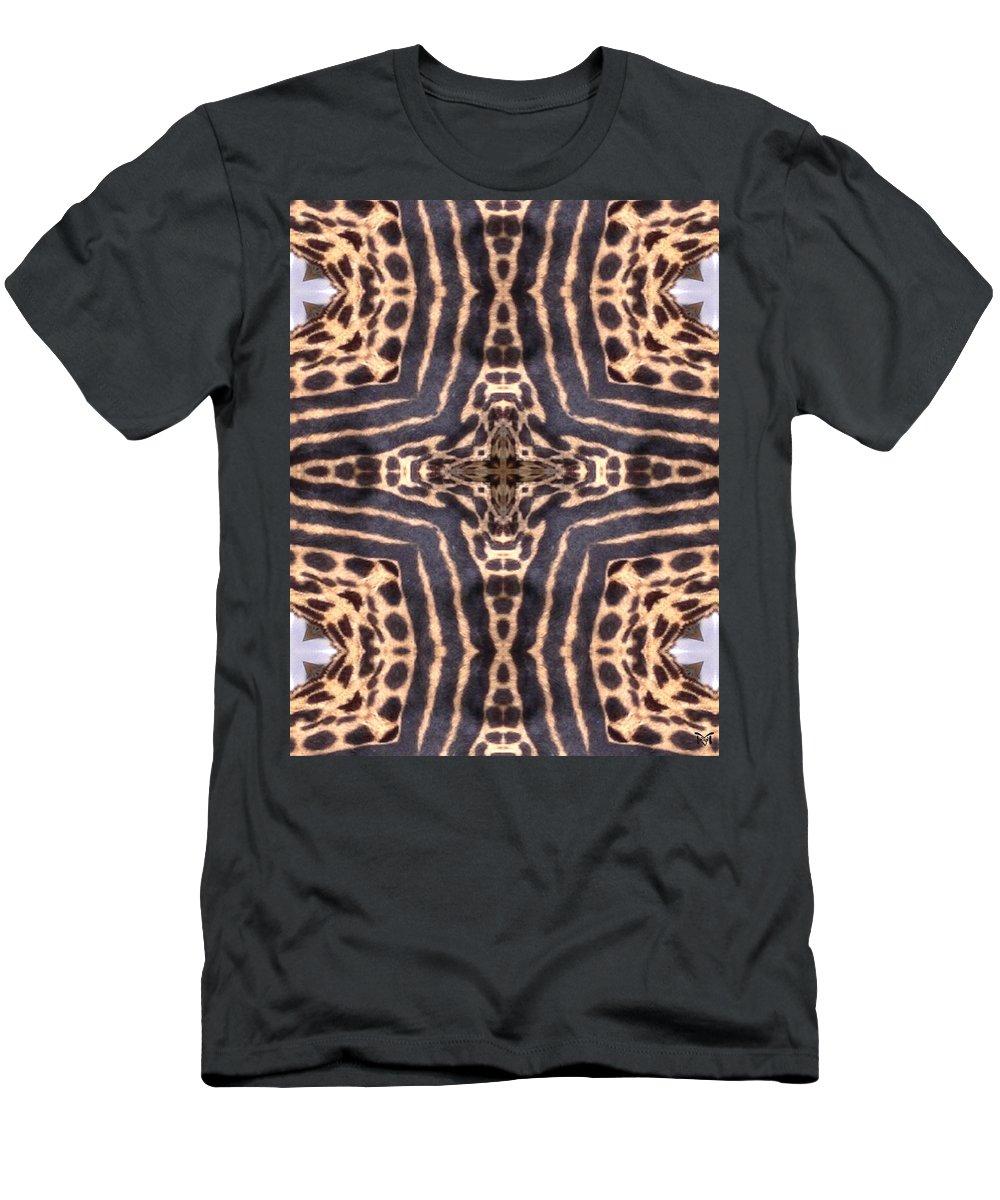 Digital Men's T-Shirt (Athletic Fit) featuring the digital art Cheetah Cross by Maria Watt