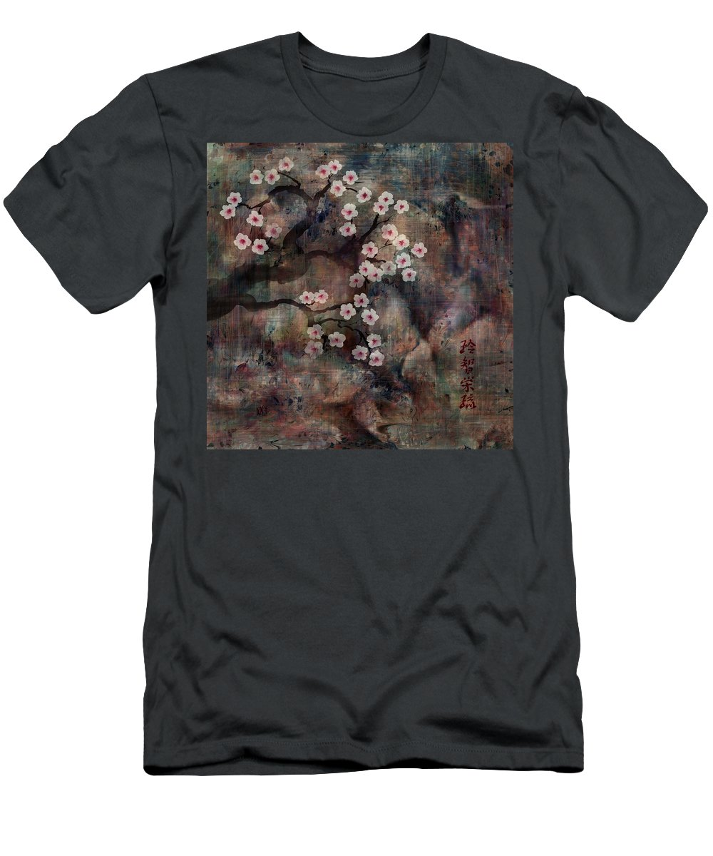 Landscape T-Shirt featuring the digital art Cherry Blossoms by William Russell Nowicki