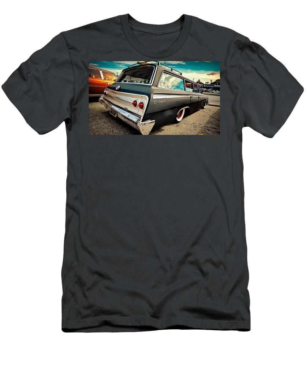 Chevrolet Impala Men's T-Shirt (Athletic Fit) featuring the digital art Chevrolet Impala by Lora Battle
