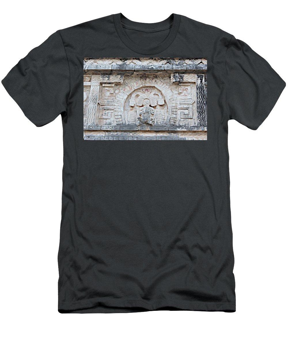 Chichen Itza Men's T-Shirt (Athletic Fit) featuring the digital art Chichen Itza by Lora Battle