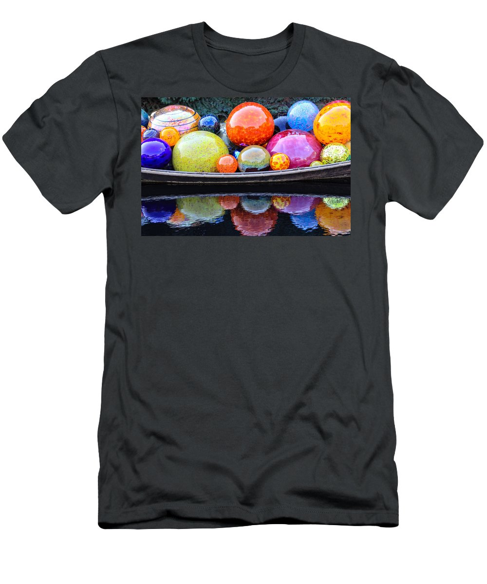 Art Men's T-Shirt (Athletic Fit) featuring the photograph Chihuly Exhibit At The Denver Botanic Gardens by Becky Canterbury