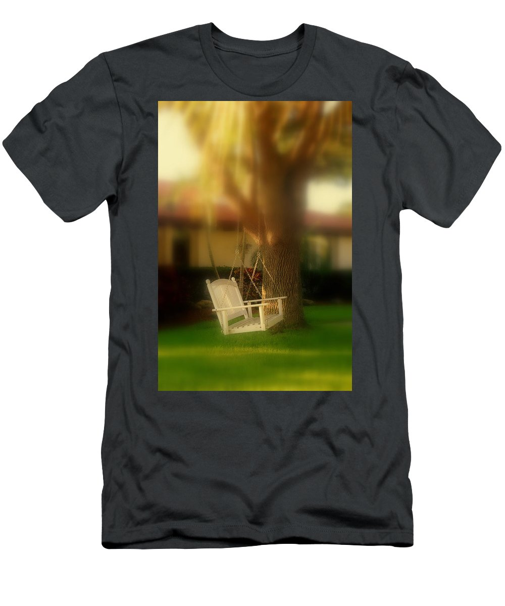 Swing Men's T-Shirt (Athletic Fit) featuring the photograph Childhood Memories by Susanne Van Hulst