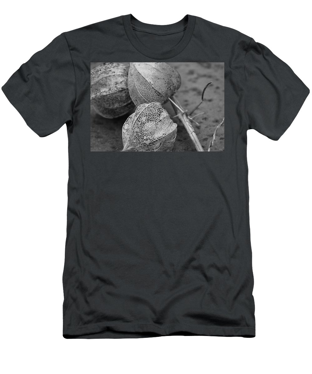Chinese Lanterns Men's T-Shirt (Athletic Fit) featuring the photograph Chinese Lanterns In Black And White by Modern Art