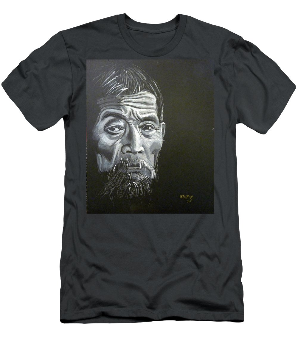 Chinese Men's T-Shirt (Athletic Fit) featuring the painting Chinese Man by Richard Le Page