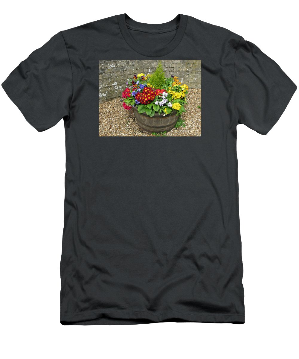 Flowers Men's T-Shirt (Athletic Fit) featuring the photograph Chock Full Of Color by Ann Horn