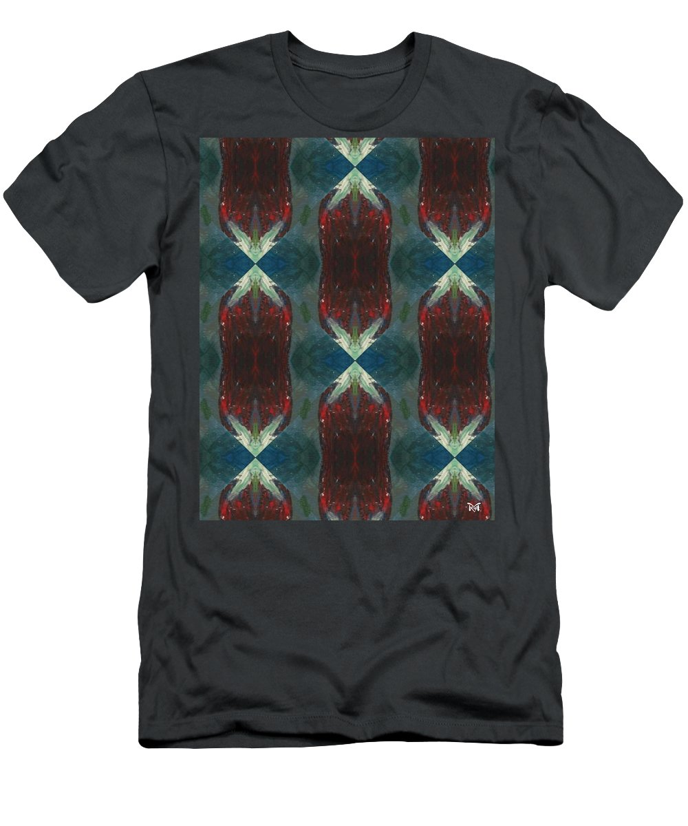 Abstracts Men's T-Shirt (Athletic Fit) featuring the digital art Christmas Crackers Surprise by Maria Watt