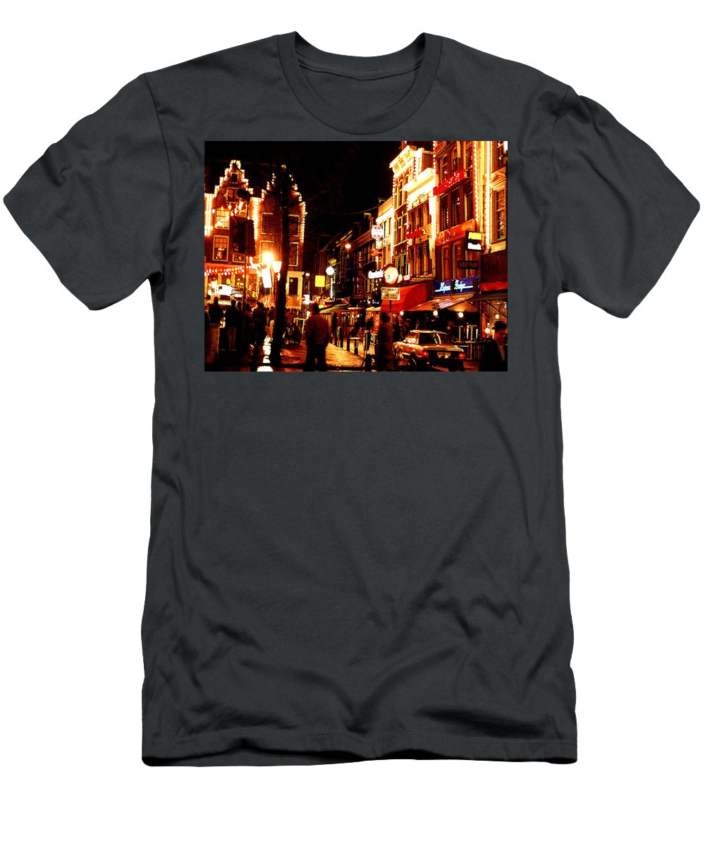 Night Men's T-Shirt (Athletic Fit) featuring the photograph Christmas In Amsterdam by Nancy Mueller
