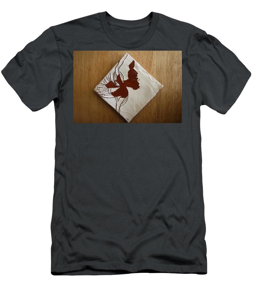 Jesus Men's T-Shirt (Athletic Fit) featuring the ceramic art Christobel - Tile by Gloria Ssali