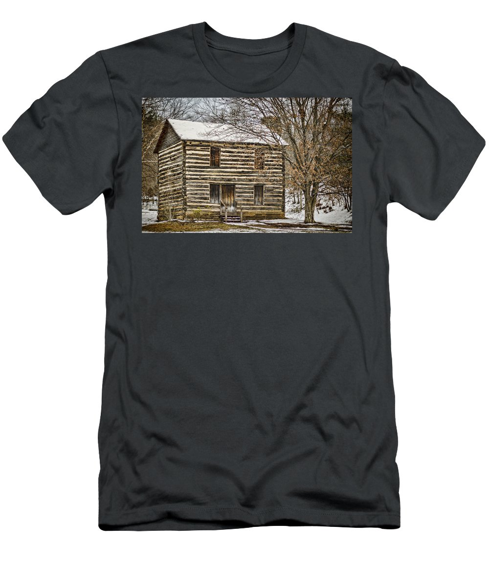 Christopher Taylor Men's T-Shirt (Athletic Fit) featuring the photograph Christopher Taylor House by Heather Applegate