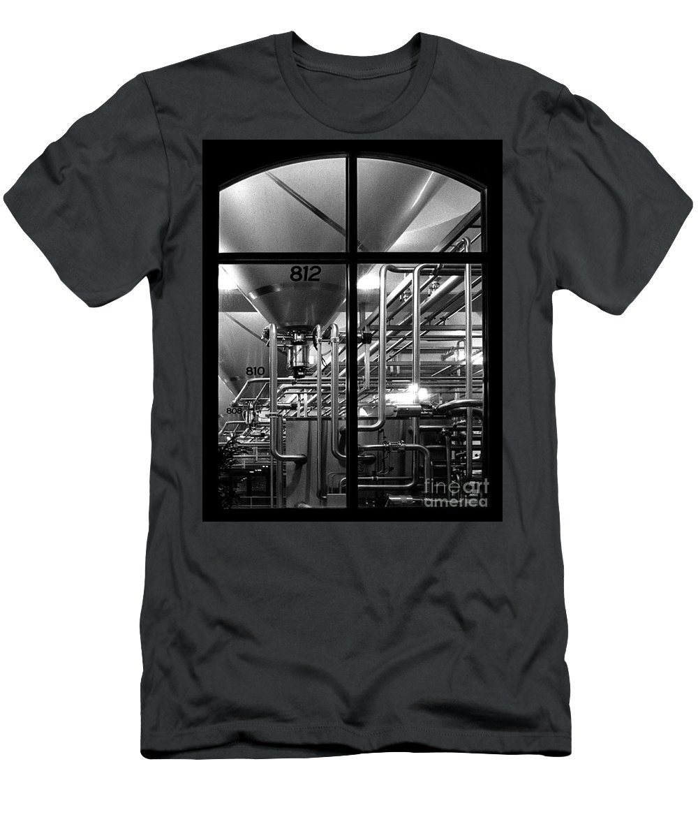 Black And White Men's T-Shirt (Athletic Fit) featuring the photograph Church Of Modern Man by Peter Piatt