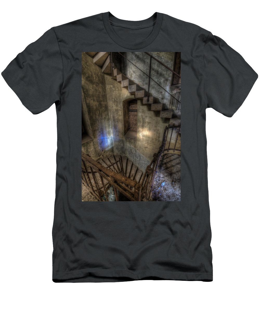 German Men's T-Shirt (Athletic Fit) featuring the photograph Church Stairs Above by Nathan Wright