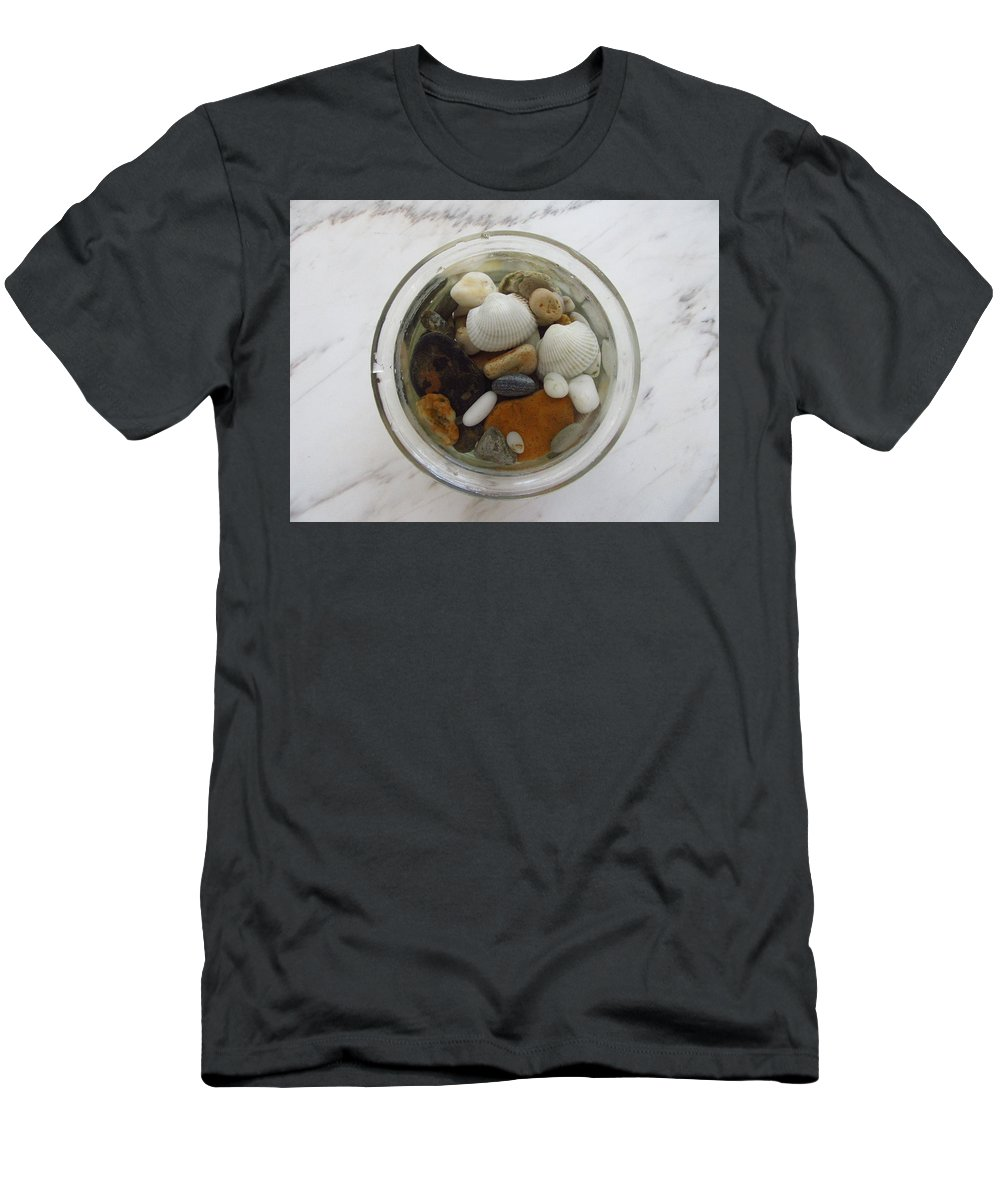 Photography Men's T-Shirt (Athletic Fit) featuring the photograph Circle In Glass And Stone 1 by Galina Todorova