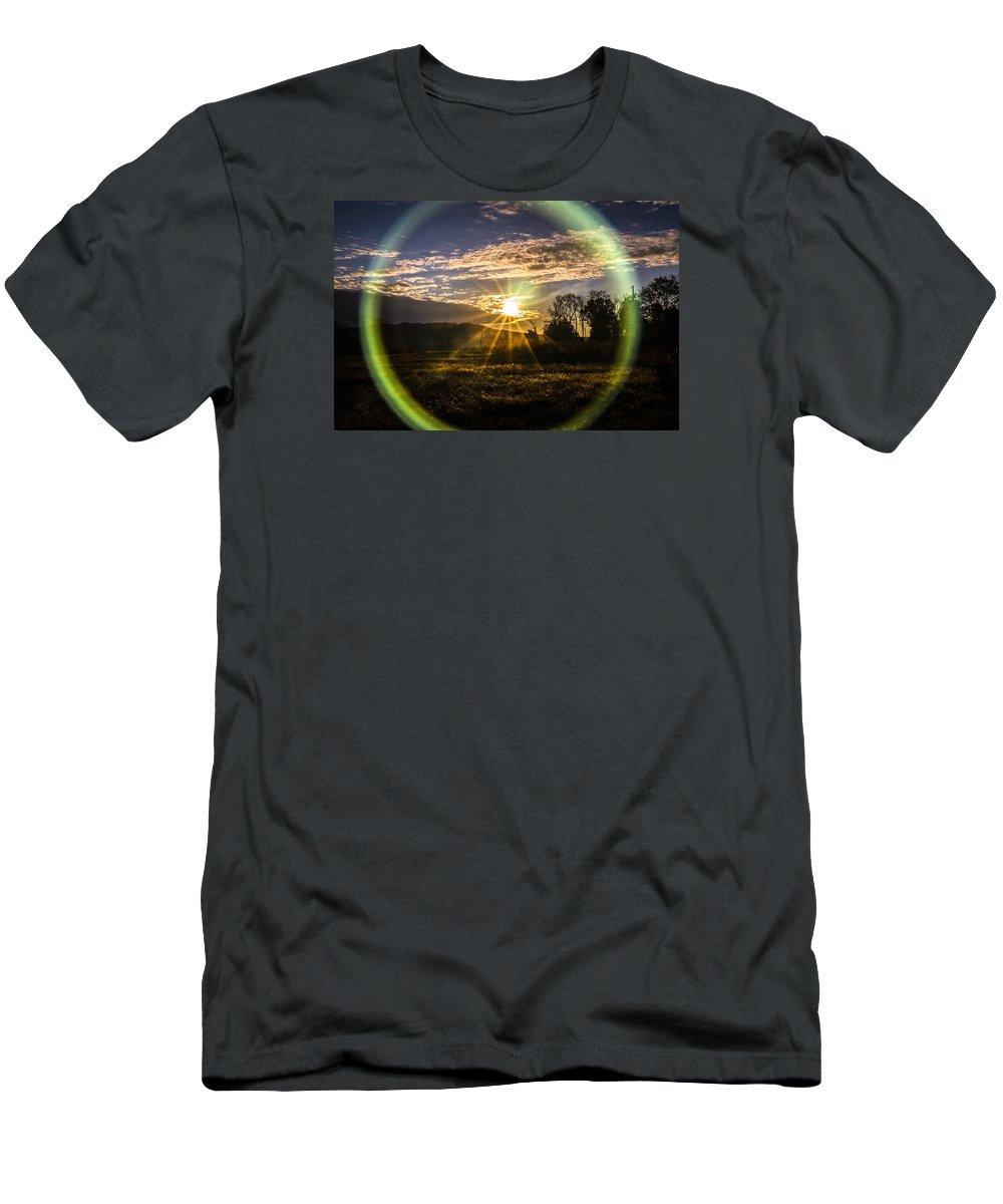 Sunrise Men's T-Shirt (Athletic Fit) featuring the photograph Circle Of Life by Jeff Sebaugh