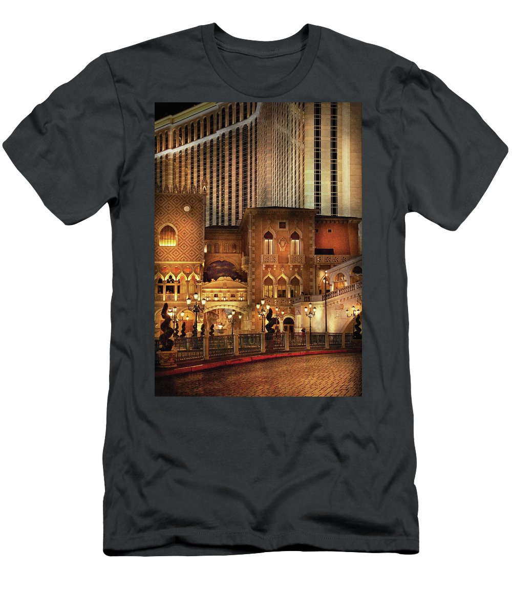 Savad Men's T-Shirt (Athletic Fit) featuring the photograph City - A Touch Of Sicily by Mike Savad