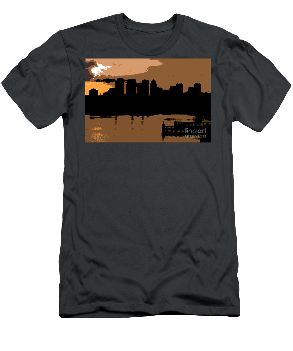 City Men's T-Shirt (Athletic Fit) featuring the photograph City By The Bay by David Lee Thompson
