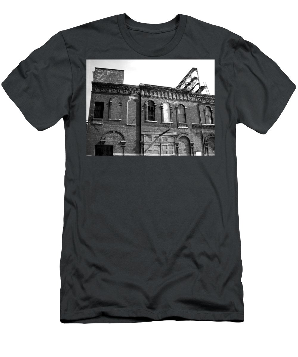 Milwaukee Men's T-Shirt (Athletic Fit) featuring the photograph City Decay 1 by Anita Burgermeister