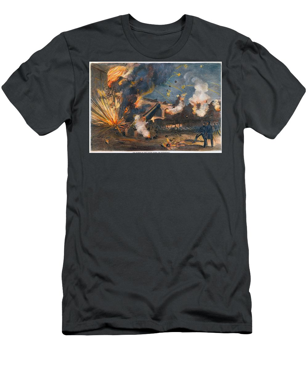 1861 Men's T-Shirt (Athletic Fit) featuring the photograph Civil War: Fort Sumter 1861 by Granger