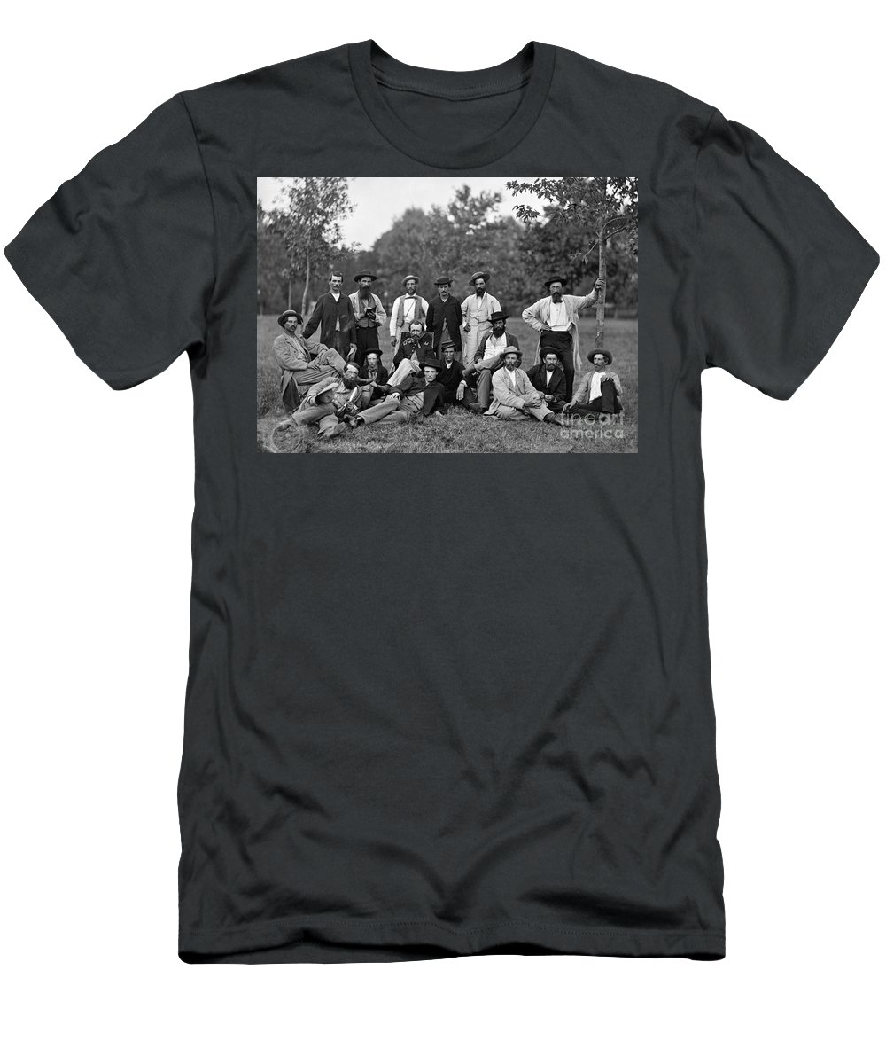 1863 Men's T-Shirt (Athletic Fit) featuring the photograph Civil War: Scouts & Guides by Granger