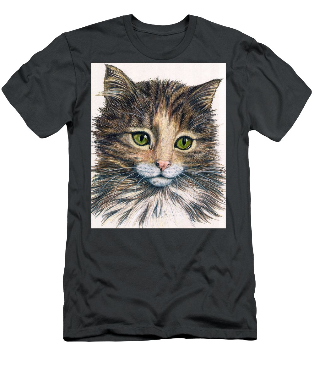 Cat Men's T-Shirt (Athletic Fit) featuring the drawing Clarice by Kristen Wesch