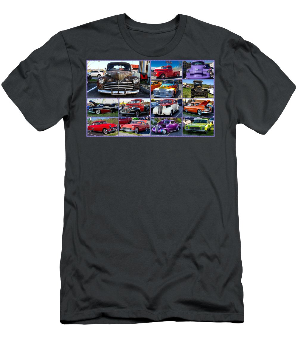 Cars Men's T-Shirt (Athletic Fit) featuring the photograph Classic Cars by Robert L Jackson