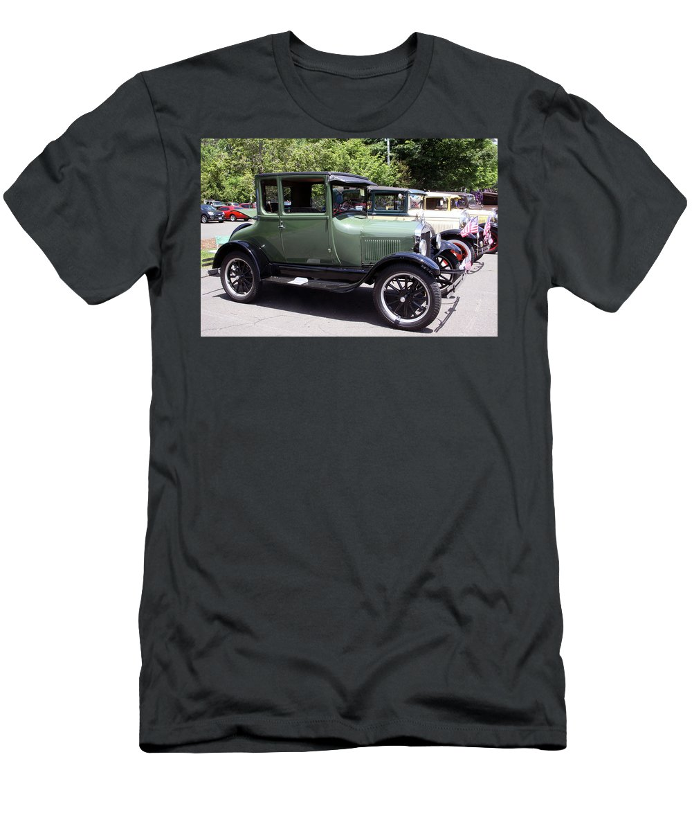 Classic Cars Men's T-Shirt (Athletic Fit) featuring the photograph Classic Line by Gerald Mitchell