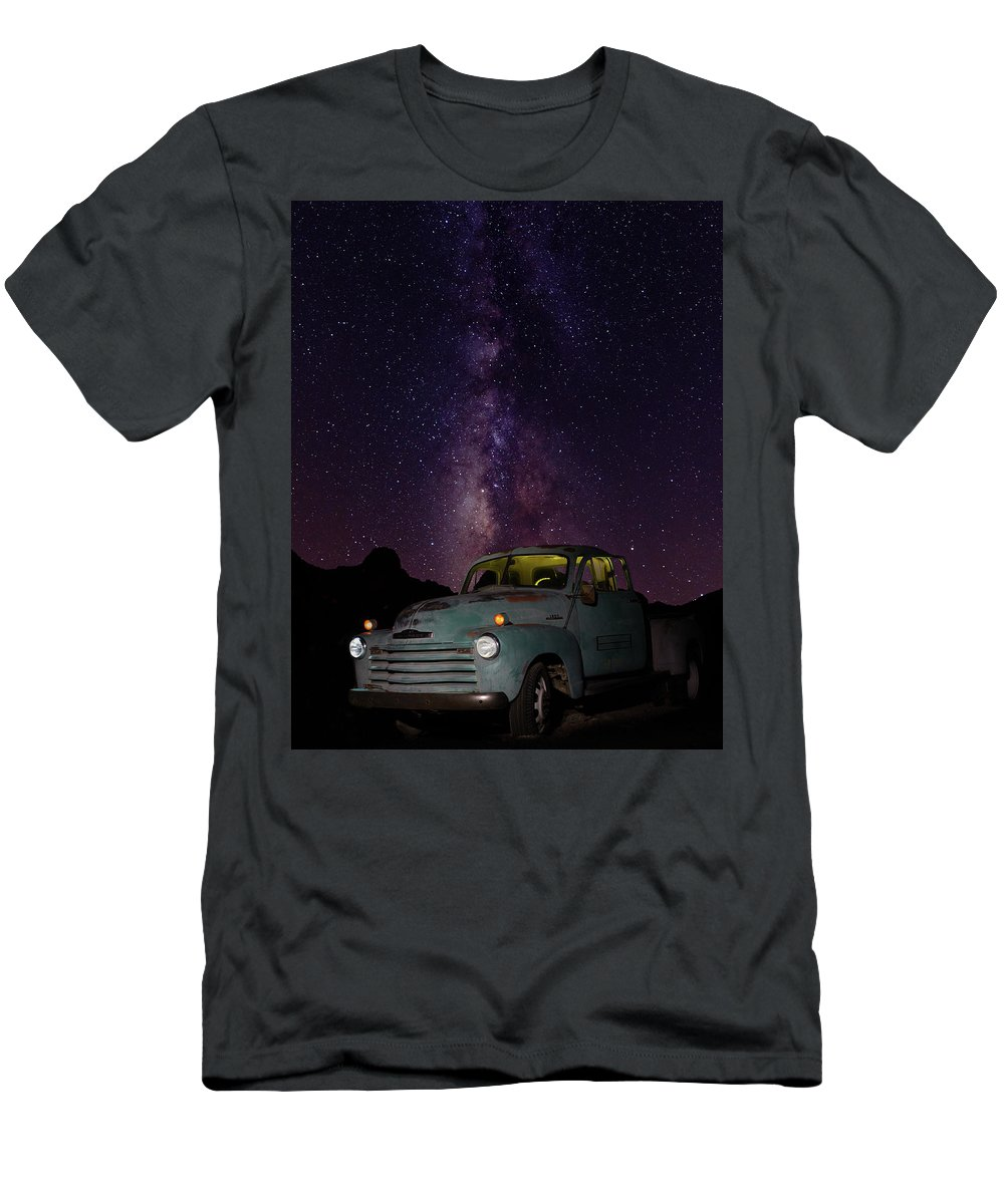 Truck Men's T-Shirt (Athletic Fit) featuring the photograph Classic Truck Under The Milky Way by James Sage