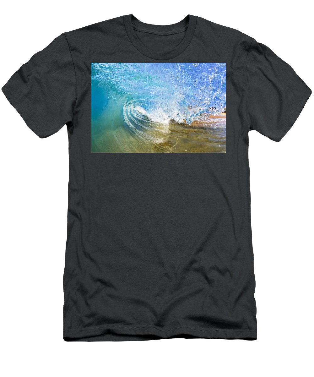 Amazing Men's T-Shirt (Athletic Fit) featuring the photograph Clear Blue Wave by MakenaStockMedia