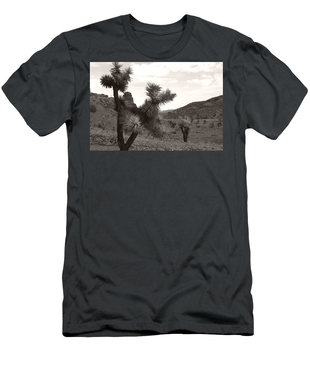 Men's T-Shirt (Athletic Fit) featuring the photograph Cliff Between Joshua by Heather Kirk