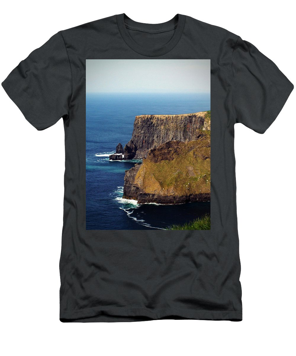 Irish T-Shirt featuring the photograph Cliffs of Moher Ireland View of Aill Na Searrach by Teresa Mucha