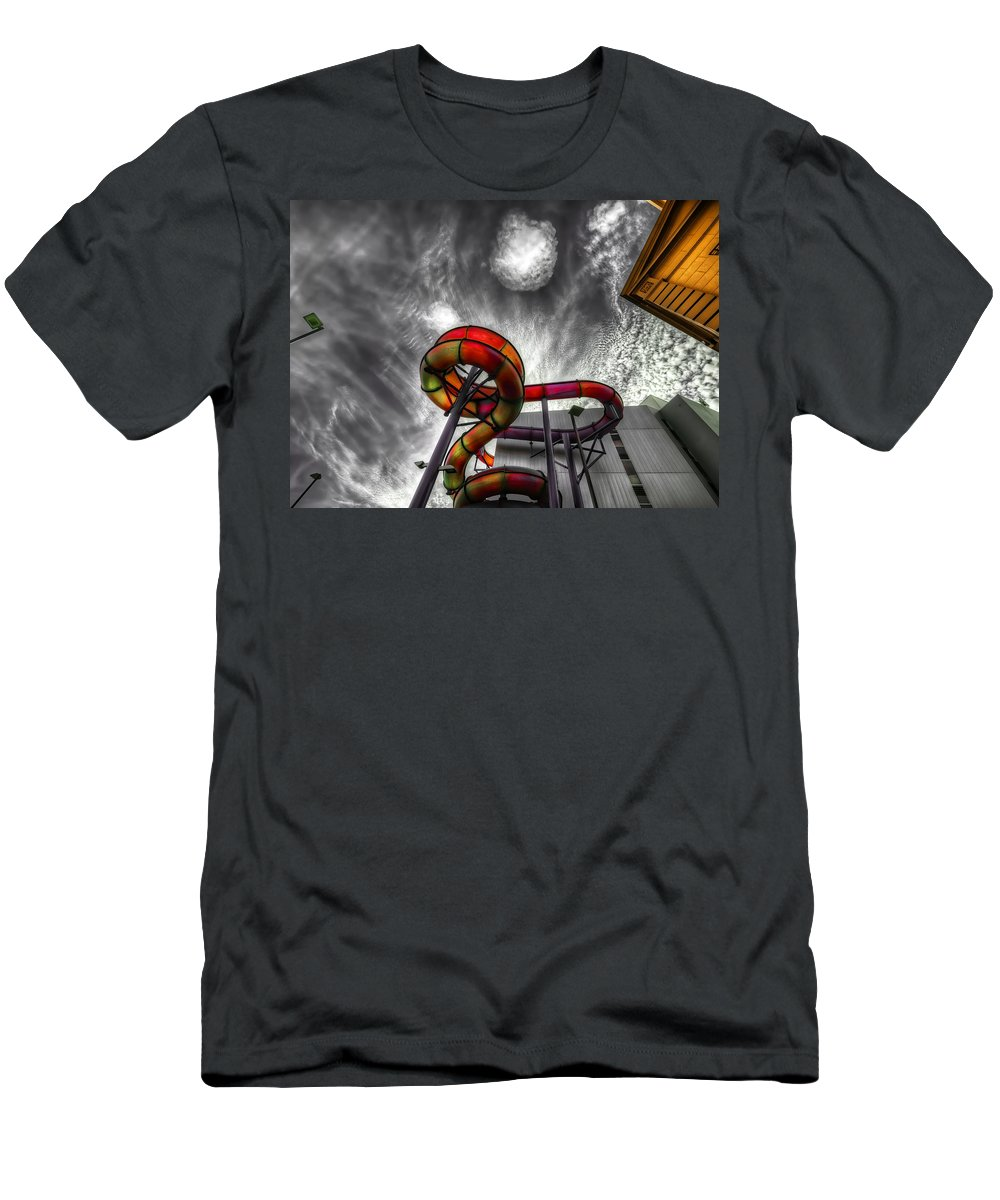 Amusement Men's T-Shirt (Athletic Fit) featuring the photograph Cloud 9a by Wayne Sherriff