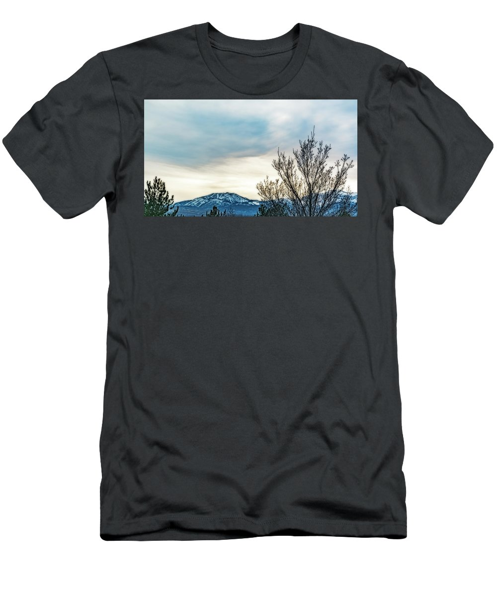 Men's T-Shirt (Athletic Fit) featuring the photograph Cloud Cover by Nancy Marie Ricketts
