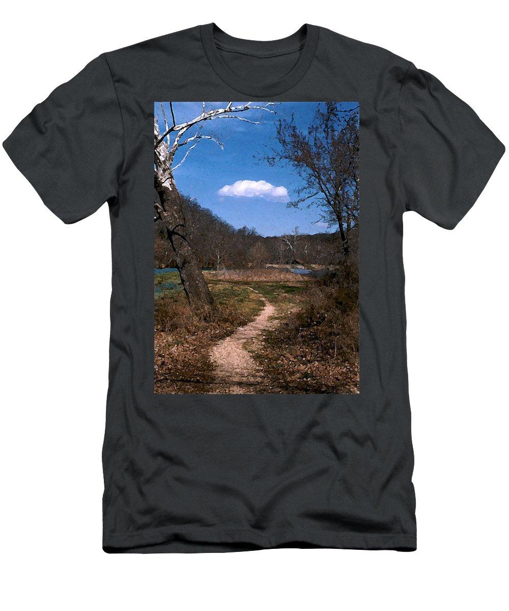 Landscape Men's T-Shirt (Athletic Fit) featuring the photograph Cloud Destination by Steve Karol