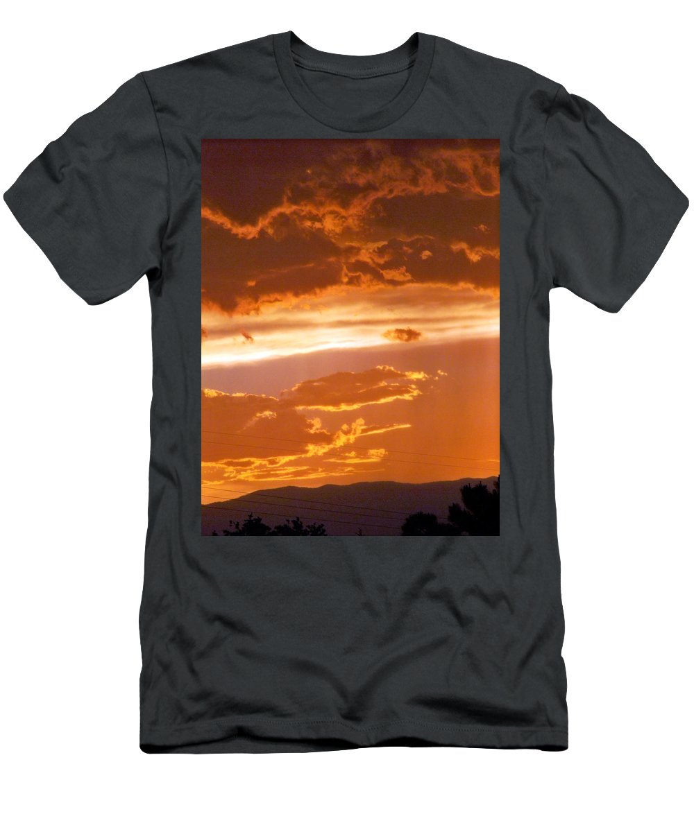 Sky Men's T-Shirt (Athletic Fit) featuring the photograph Cloud Light by Brian Commerford