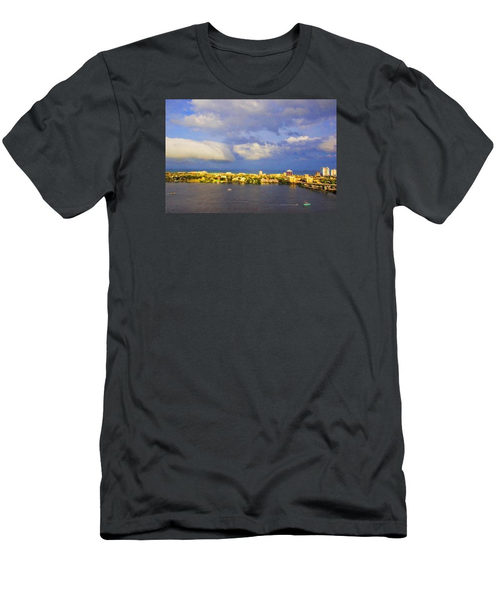 Alicegipsonphotographs Men's T-Shirt (Athletic Fit) featuring the photograph Cloud Shelf by Alice Gipson
