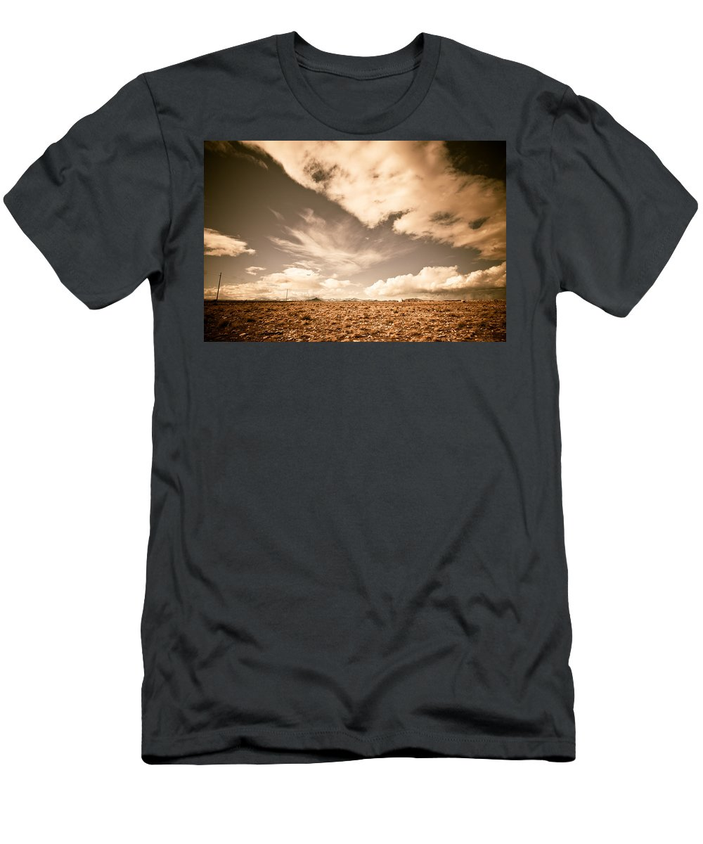Storm Men's T-Shirt (Athletic Fit) featuring the photograph Cloudy Plain by Scott Sawyer