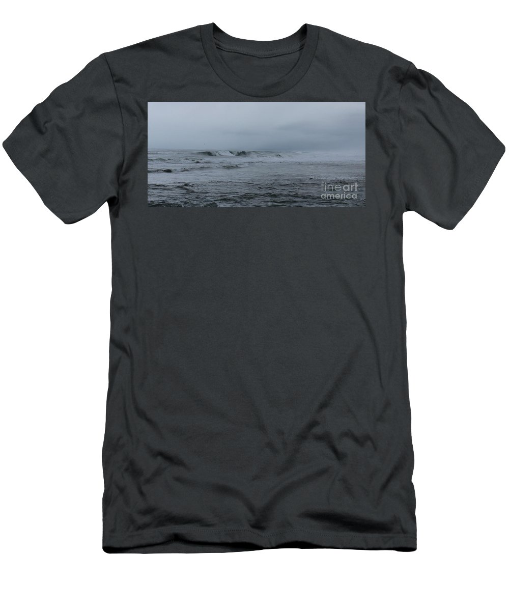 Beach Men's T-Shirt (Athletic Fit) featuring the photograph Coastal Waters by Larry Daeumler