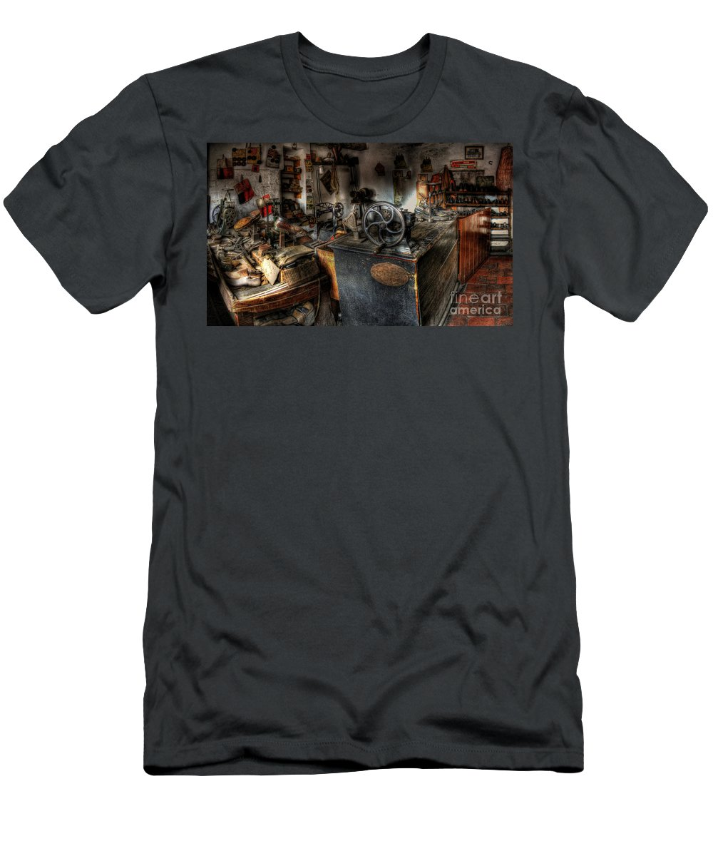 Art Men's T-Shirt (Athletic Fit) featuring the photograph Cobbler's Shop by Yhun Suarez