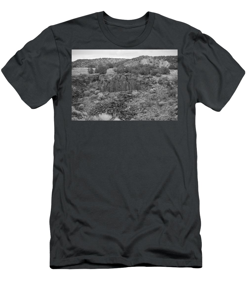 Rocks Men's T-Shirt (Athletic Fit) featuring the photograph Cochiti Rocks by Rob Hans