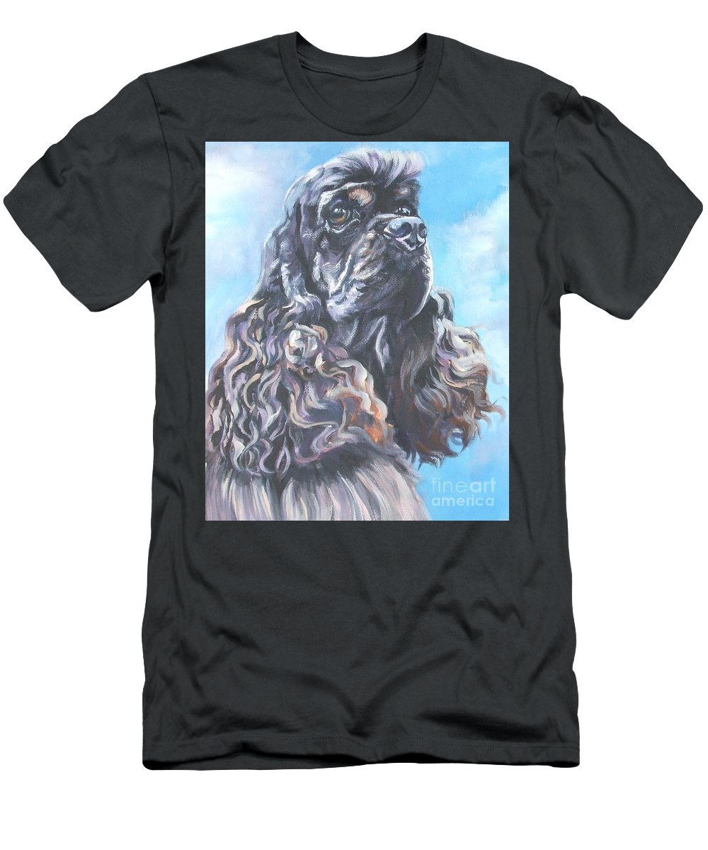 Cocker Spaniel Men's T-Shirt (Athletic Fit) featuring the painting Cocker Spaniel 2 by Lee Ann Shepard