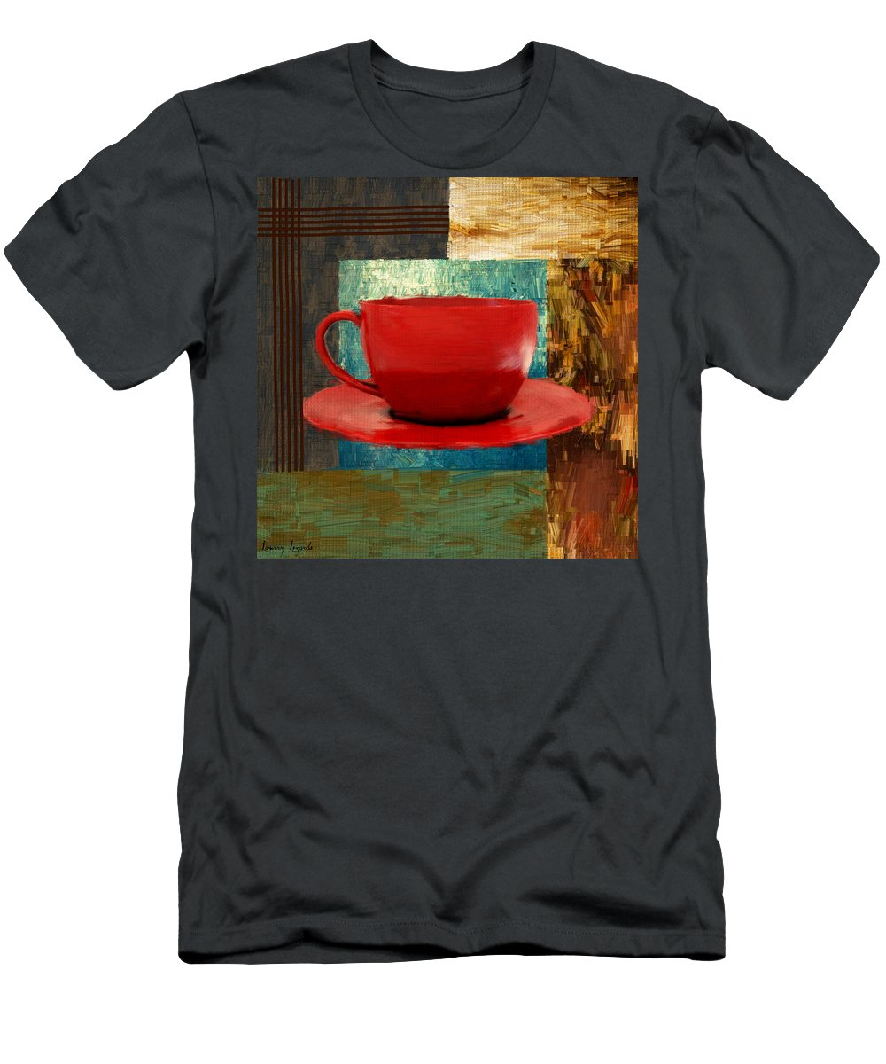 Coffee Men's T-Shirt (Athletic Fit) featuring the digital art Coffee Lover by Lourry Legarde