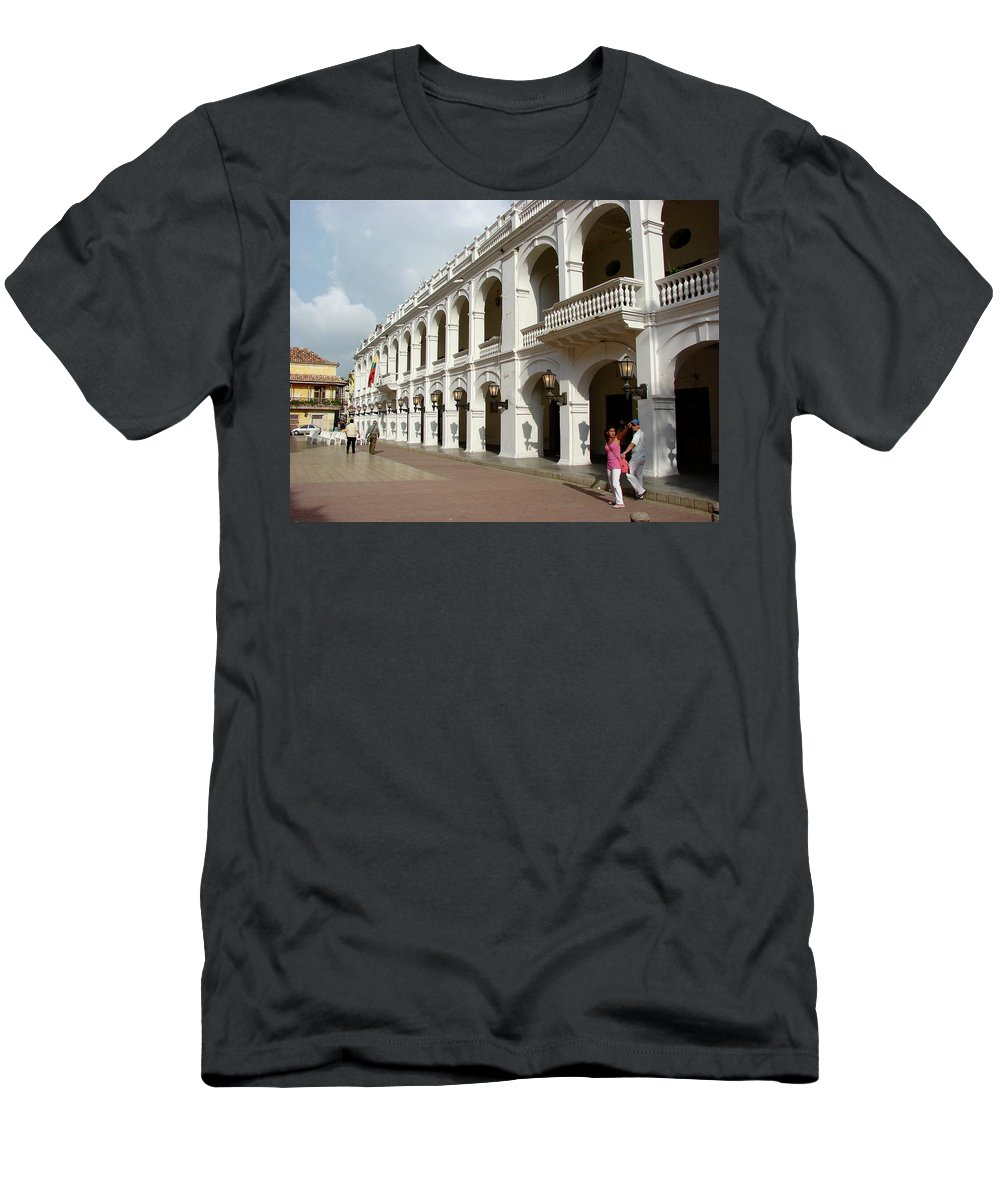 Colombia T-Shirt featuring the photograph Colombia Courtyard by Brett Winn