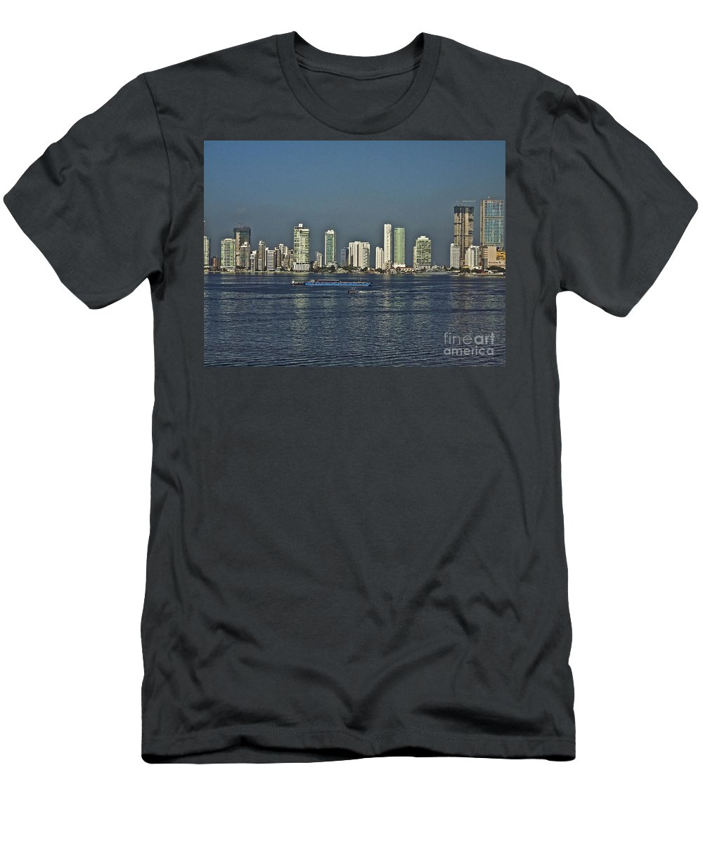 Architecture Men's T-Shirt (Athletic Fit) featuring the photograph Colombia019 by Howard Stapleton