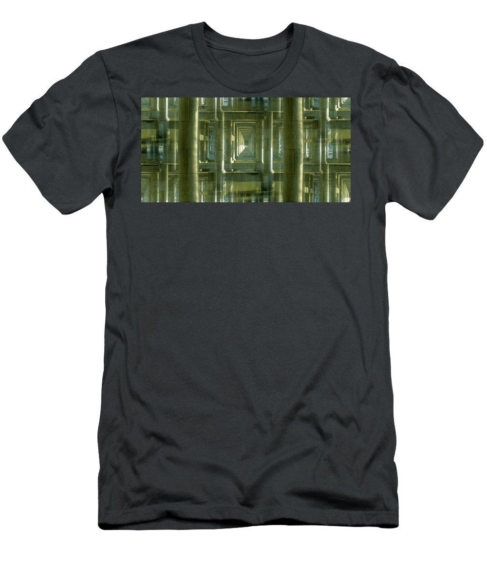 Seattle Men's T-Shirt (Athletic Fit) featuring the photograph Colonnade Park Seattle by Tim Allen
