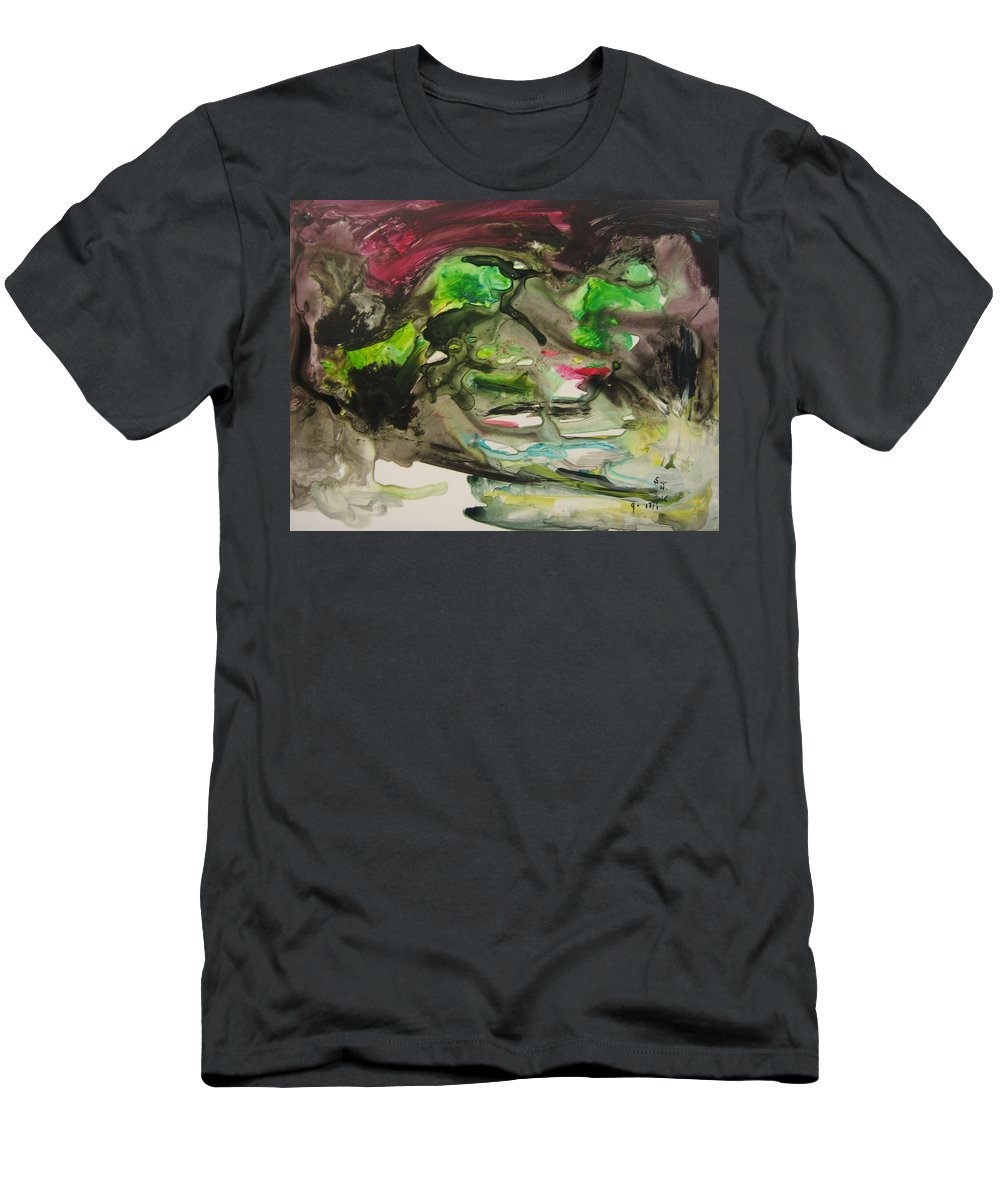 Abstract Paintings Men's T-Shirt (Athletic Fit) featuring the painting Color Fever 114 by Seon-Jeong Kim