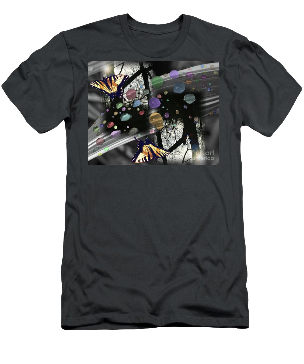 Men's T-Shirt (Athletic Fit) featuring the digital art Color Reflections by April DeBord