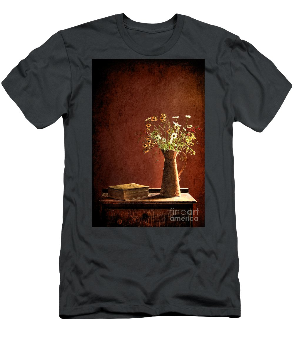 Still Life Men's T-Shirt (Athletic Fit) featuring the photograph Color Wild Garden by Sari Sauls