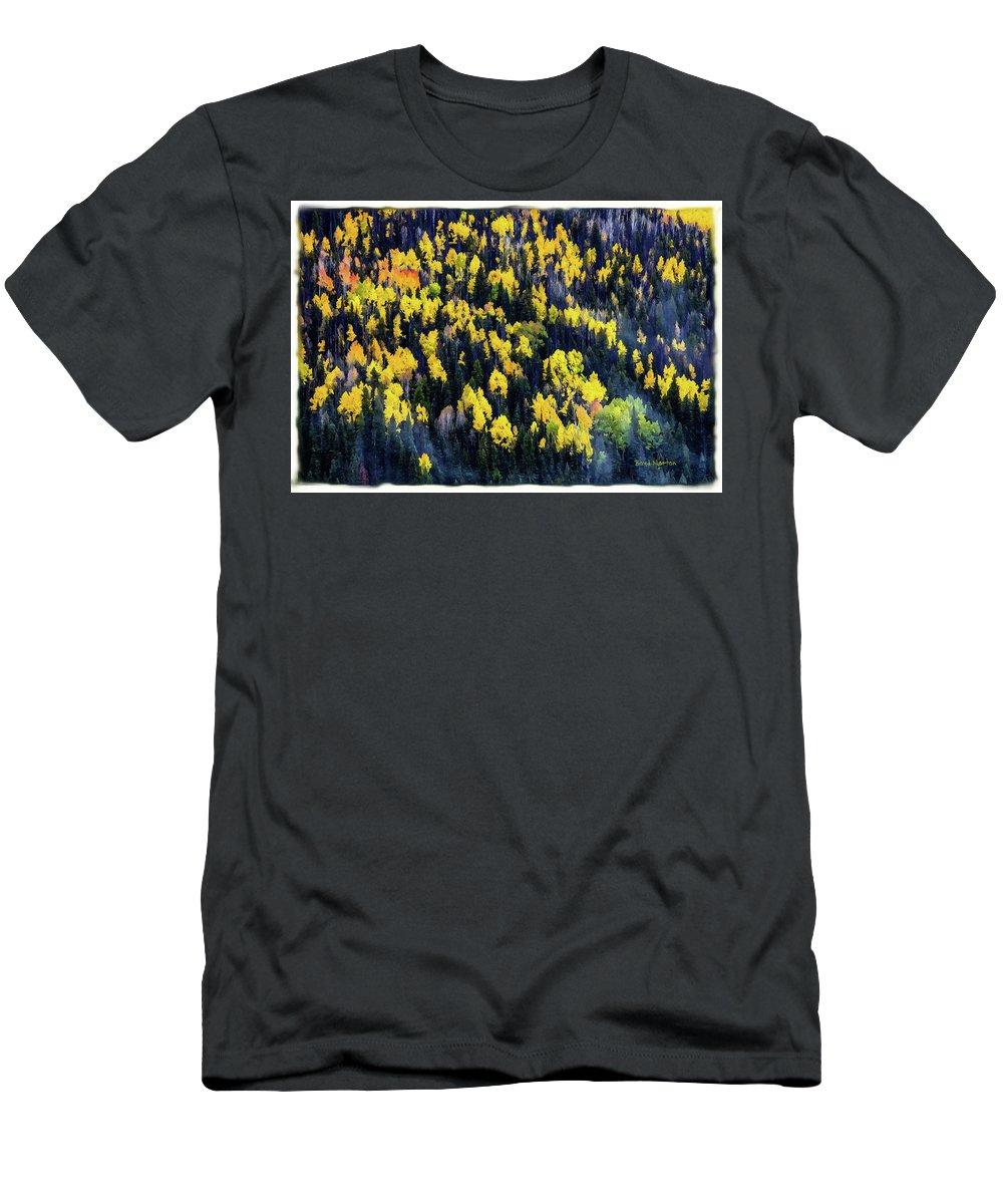 Colorado Men's T-Shirt (Athletic Fit) featuring the mixed media Colorado Autumn #5 by Boyd Norton