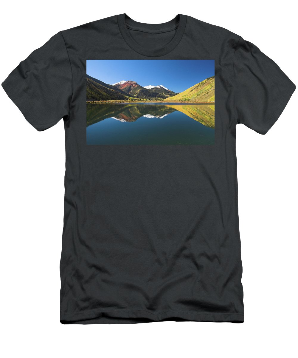Colorado Men's T-Shirt (Athletic Fit) featuring the photograph Colorado Reflections by Steve Stuller