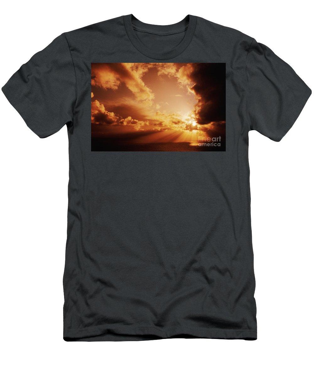 Air Art Men's T-Shirt (Athletic Fit) featuring the photograph Colorful Cloudburst by Larry Dale Gordon - Printscapes